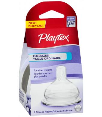 Playtex Full-Sized Nipple, Slow Flow, 2-Count