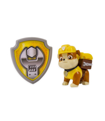 Nickelodeon, Paw Patrol - Action Pack Pup and Badge - Rubble