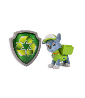 Nickelodeon, Paw Patrol - Action Pack Pup and Badge - Rocky