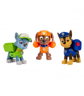 Nickelodeon, Paw Patrol - Action Pack Pups 3pk Figure Set Chase, Rocky, Zuma