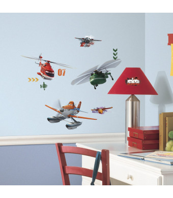 RoomMates Planes Fire and Rescue Peel and Stick Wall Decals