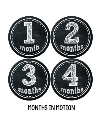 Months in Motion 155 Monthly Baby Stickers Baby Boy or Baby Girl Chalkboard