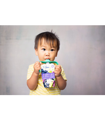 PouchBuddy (Turquoise) - Baby Self Feeding PouchBuddy. Works with Most Baby Food Pouches Including but Not Limited to Plum, Happy Tot, Happy Baby, Ha