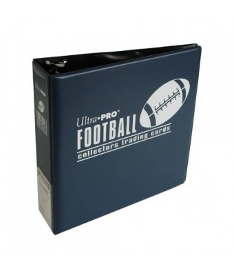 Ultra Pro 3-Ring (D-Ring Binder) Blue Football Card Album