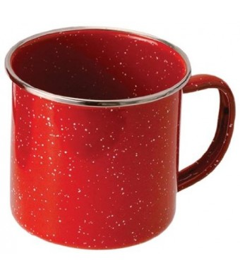 GSI Outdoors 4208 Red Stainless Steel Rim Enamelware Cup
