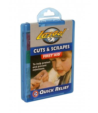 "Be Smart Get Prepared Total Resources International ""Let's Go Cuts and Scrapes""  Compact First Aid Kit"