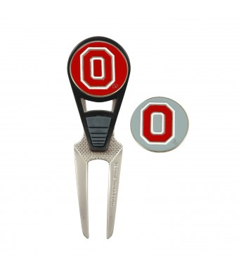 NCAA Ohio State Golf Ball Mark Repair Tool and Ball Markers