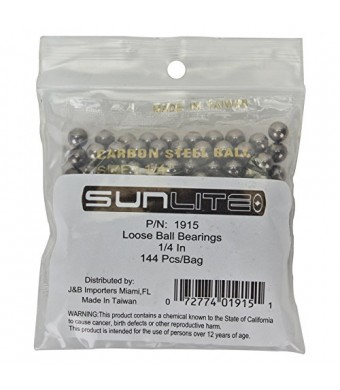 "Sunlite Bicycle Loose Ball Bearings 1/4""  Bag Of 144"