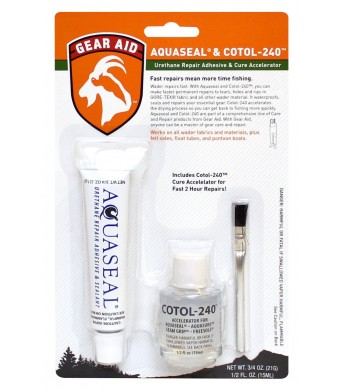 Gear Aid Aquaseal Urethane Repair Adhesive and Cotol 240 Cure Accelerator