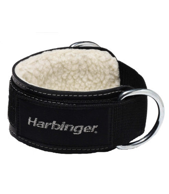 Harbinger 373700 Leather 3-Inch Double Ring Ankle Cuff Attachment
