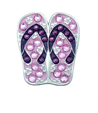 Bella Crystal Flip Flop Hat Clip Set