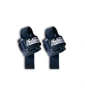 Schiek Deluxe Power Lifting Straps w Neoprene Support - Set of 2