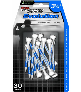 Pride Professional Tee System Evolution Tee, 3-1/4 inch- 30 Count (Blue)