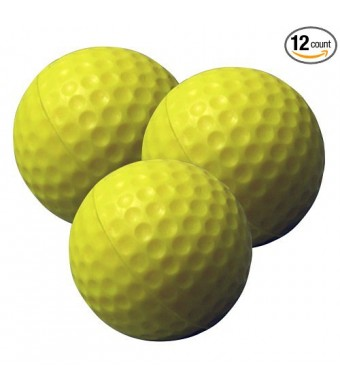 PrideSports Practice Golf Balls, Foam, 12 Count, Yellow