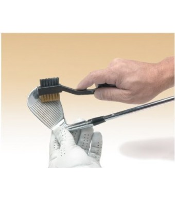 Jef World of Golf Gifts and Gallery, Inc. 2 Way Cleaning Brush (Silver)