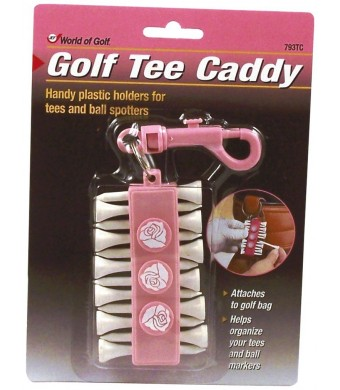 Jef World of Golf Gifts and Gallery, Inc. Pink Tee Caddy