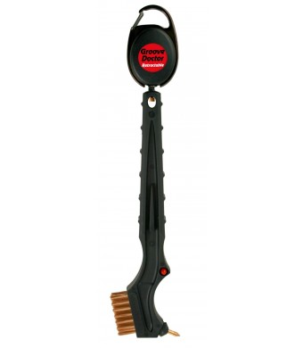 Retractable Golf Brush and Groove Cleaner, The Groove Doctor Retractable Club Brush