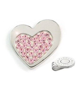 Elixir Golf Big Heart Crystal Golf Ball Marker with Hat Clip
