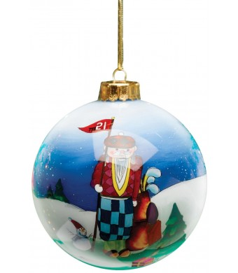 Golf Gifts and Gallery Clubhouse Collection Glass Winter Golfer Ornament