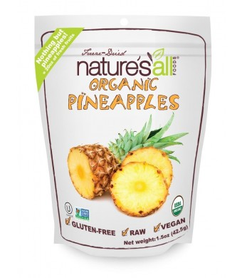 Nature's All Foods Freeze-Dried Pineapples, 1.5 Ounce