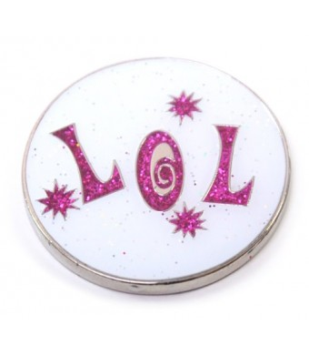 Navika Laugh Out Loud Glitzy Ball Marker with Hat Clip