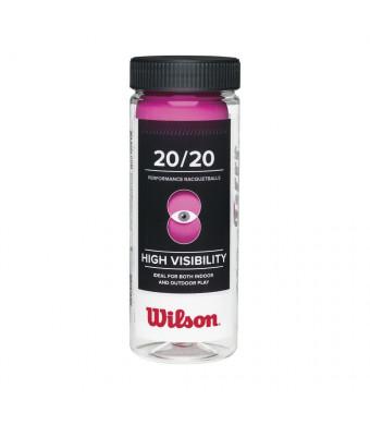 Wilson 20/20 Racquetball (3 Ball Can), Pink