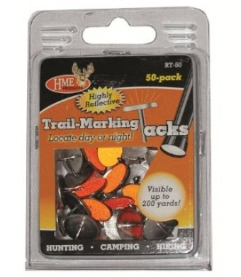 Hme Products Reflective Tack (Pack of 50), Orange
