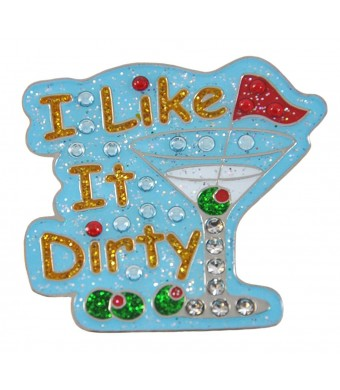 Navika I Like It Dirty Swarovski Crystal and Glitz Ball Marker with Hat Clip
