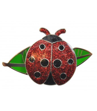 Navika Ladybug Glitzy Ball Marker with Leaf Kicks Candy Shoe Ornament