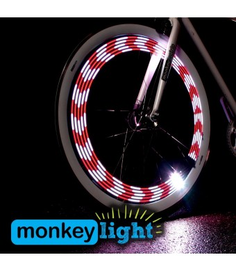Monkey Light M210 - 80 Lumen Bike Light - 360° Visibility - Wheel and Spoke Light