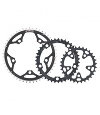 FSA Pro Road 44-Tooth/9-Speed Chainring (130mm, Black)