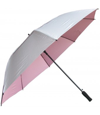 RainStoppers 62-Inch Silver Coated Windbuster Golf Umbrella