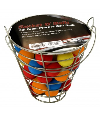 ProActive Sports Bucket O' Balls with 48 Foam Practice Balls (Assorted)