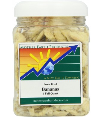 Mother Earth Products Freeze Dried Bananas, 1 Full Quart