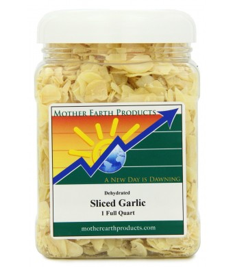 Mother Earth Products Dried Garlic, Sliced, 1 Full Quart
