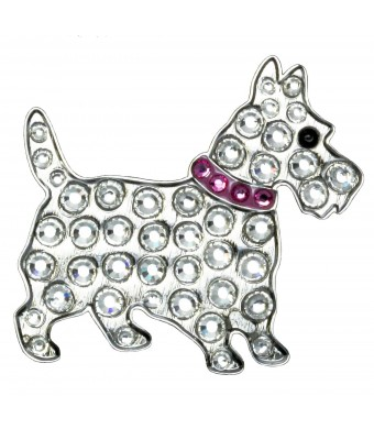 Navika Scottie Dog Swarovski Crystal Ball Marker with Hat Clip