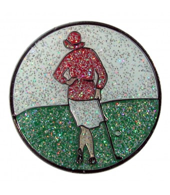 Navika Vintage Lady Glitzy Ball Marker with Hat Clip