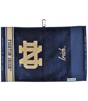 NCAA Notre Dame Fighting Irish Jacquard Face/Club Towel