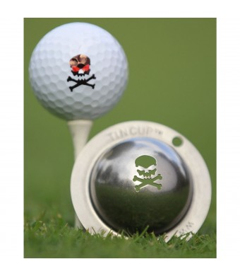Tin Cup Breast Cancer Awareness Golf Ball Marking Stencil, Steel