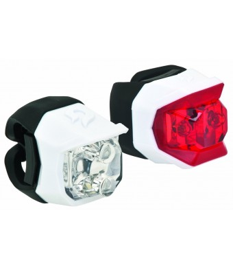 Blackburn 2015 Click Combo Front and Rear Bike Light Set - 203348 (White - ONE SIZE)