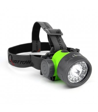 Quarrow 70 Lumen Head Lamp with 10 UV and 4 Green LEDs
