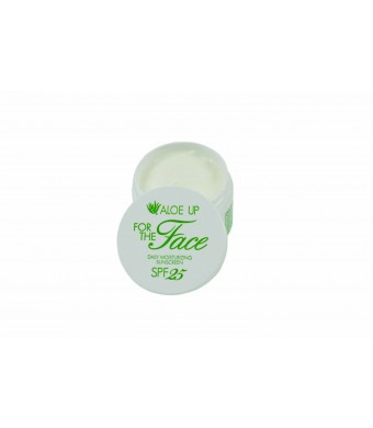 Aloe Up Sun and Skin Care Products Unisex White Collection for The Face SPF 25 Moisturizer