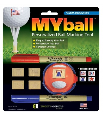 Green Keeper Myball Marking Tool, Patriotic