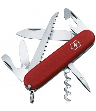 Victorinox Swiss Army Camper II Folding Camping Knives, Red, 91mm