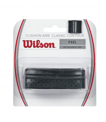 Wilson Classic Contour Replacement Tennis Racquet Grip, Black