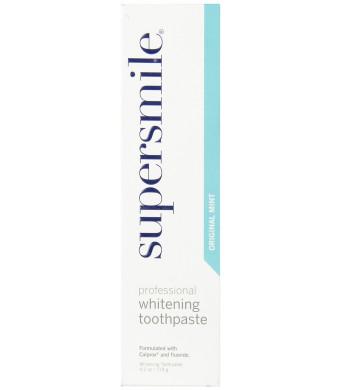 supersmile Whitening Fluoride Toothpaste, original mint - 4.2 oz