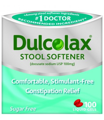 Dulcolax Stool Softener Laxative, 100 Count