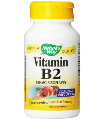 Nature's Way Vitamin B2, 100 mg Riboflavin, 100 Capsules