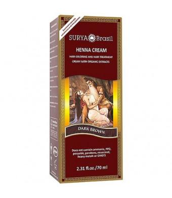 Surya Amazonia Preciosa - Henna Dark Brown Cream 2.31 Oz