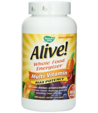 Nature's Way Alive! Max Potency Multi-Vitamin, 180 Tablets